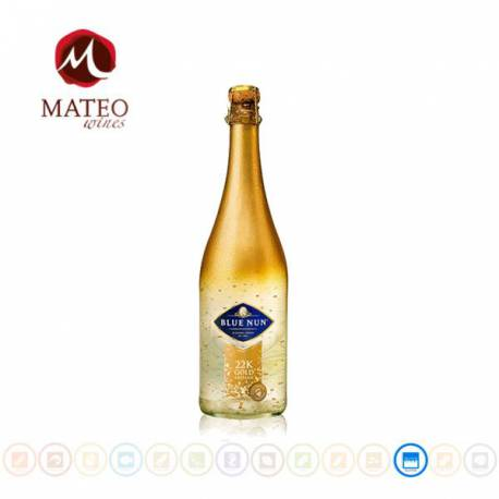 Espumoso Blue Nun 22K Gold Edition Sparkling, Mateo Wines