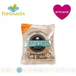 3 Bolsas Snack Fish And Chips, FishSnacks