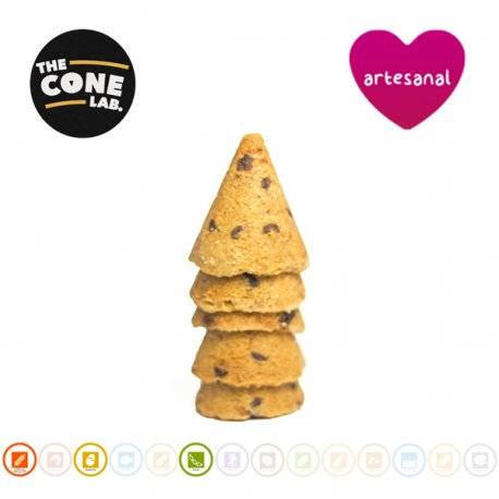 Cucurucho Cookie Americana Con Chips De Chocolate, The Cone Lab (20 uds)